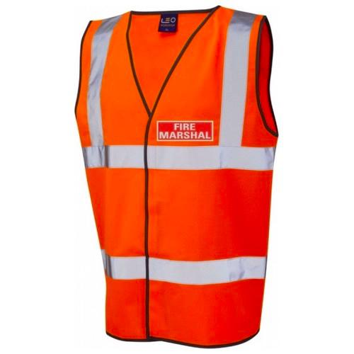 Fire Marshal Hi Vis Jacket / Vest / Waistcoat Orange