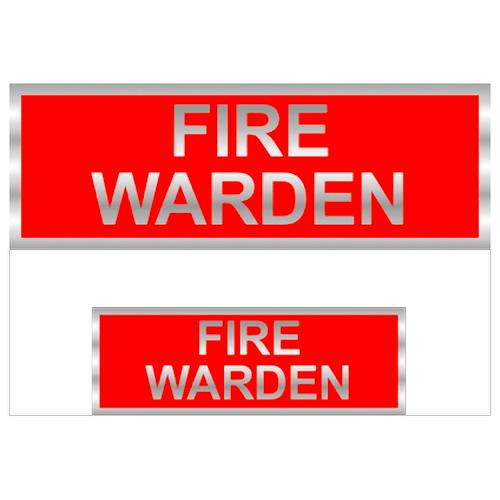 Fire Warden Badges Reflective with Red (Back & Front print)