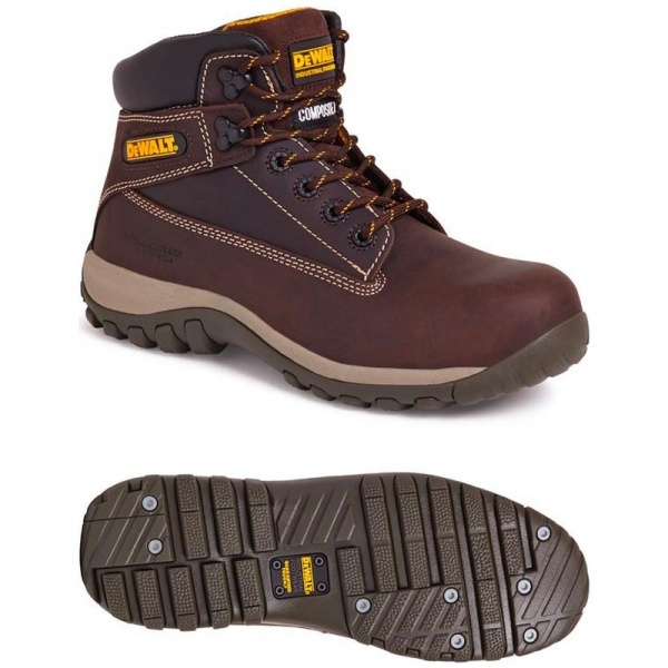 Dewalt Hammer Non-Metallic Safety Boot Brown