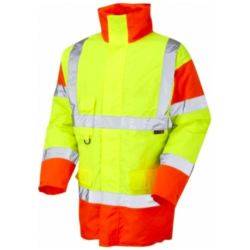 Leo Workwear A01-Y/O Tawstock Hi Vis Jacket Yellow / Orange