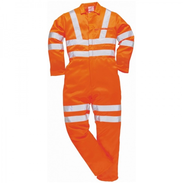 Portwest RT42 Hi Vis Polycotton Coverall Orange