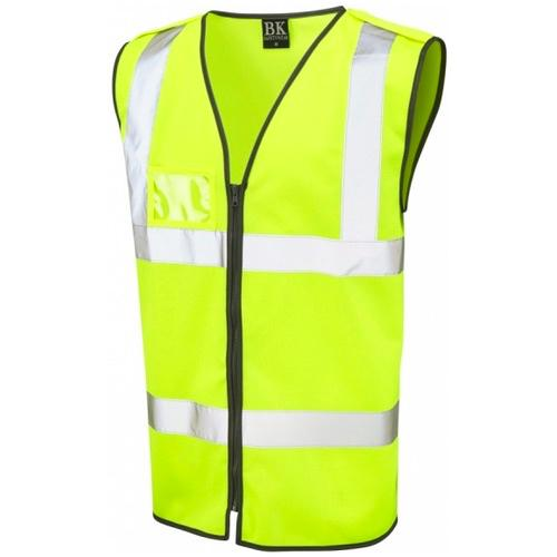Hi Vis Vest with Epaulettes Yellow