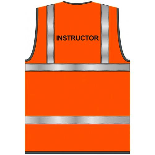 Instructor Text Hi Vis Orange Waistcoat