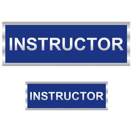 Instructor Badge Reflective with Blue (Back & Front)