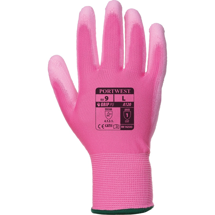 Portwest A120 PU Palm Glove Pink
