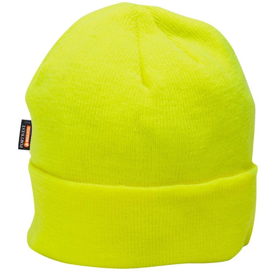 621eab03840353 Portwest B013 Insulated Knit Beanie Style Insulatex Lined Hat | BK  Safetywear