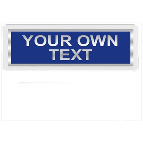 Your Own Text Reflective Badge BACK only