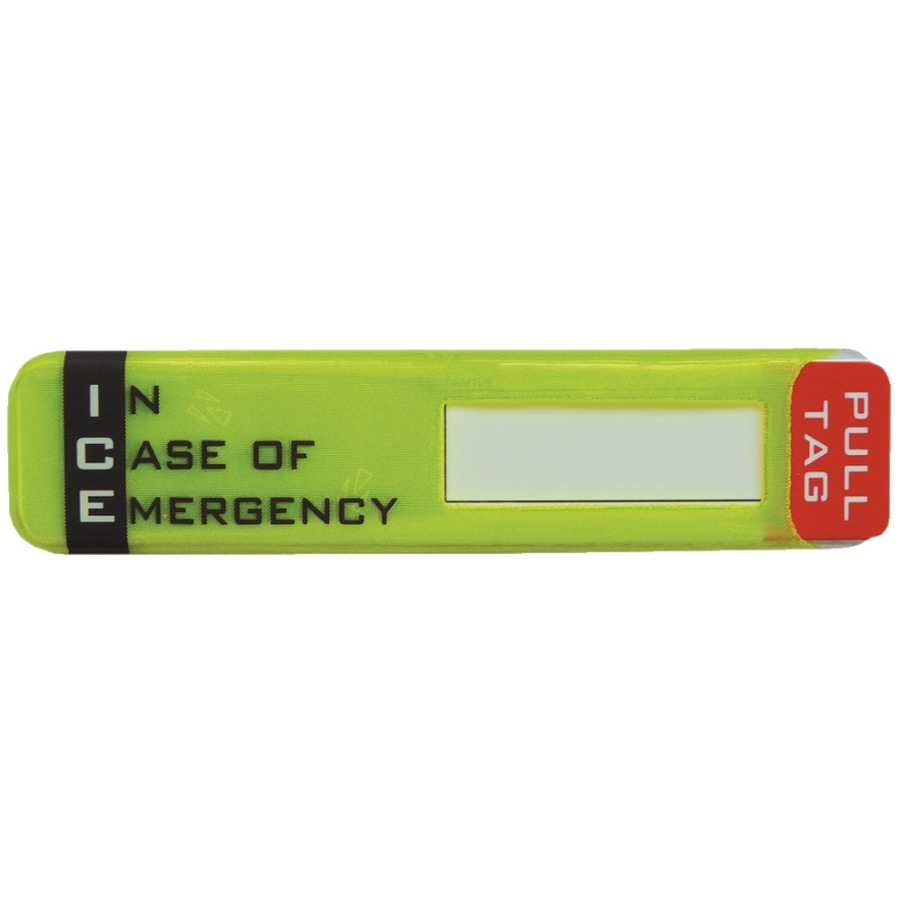 ICE - In Case of Emergency Hard Hat ID Holder Sticker
