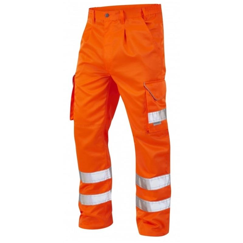 huge discount ad241 5d1a5 Leo Workwear CT01-O Bideford Superior Railway Cargo Hi Vis Trousers Orange