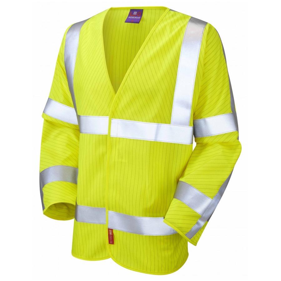 Leo Workwear S17-Y Meshaw ISO 20471 Class 3 LFS Anti-Static Vest Yellow