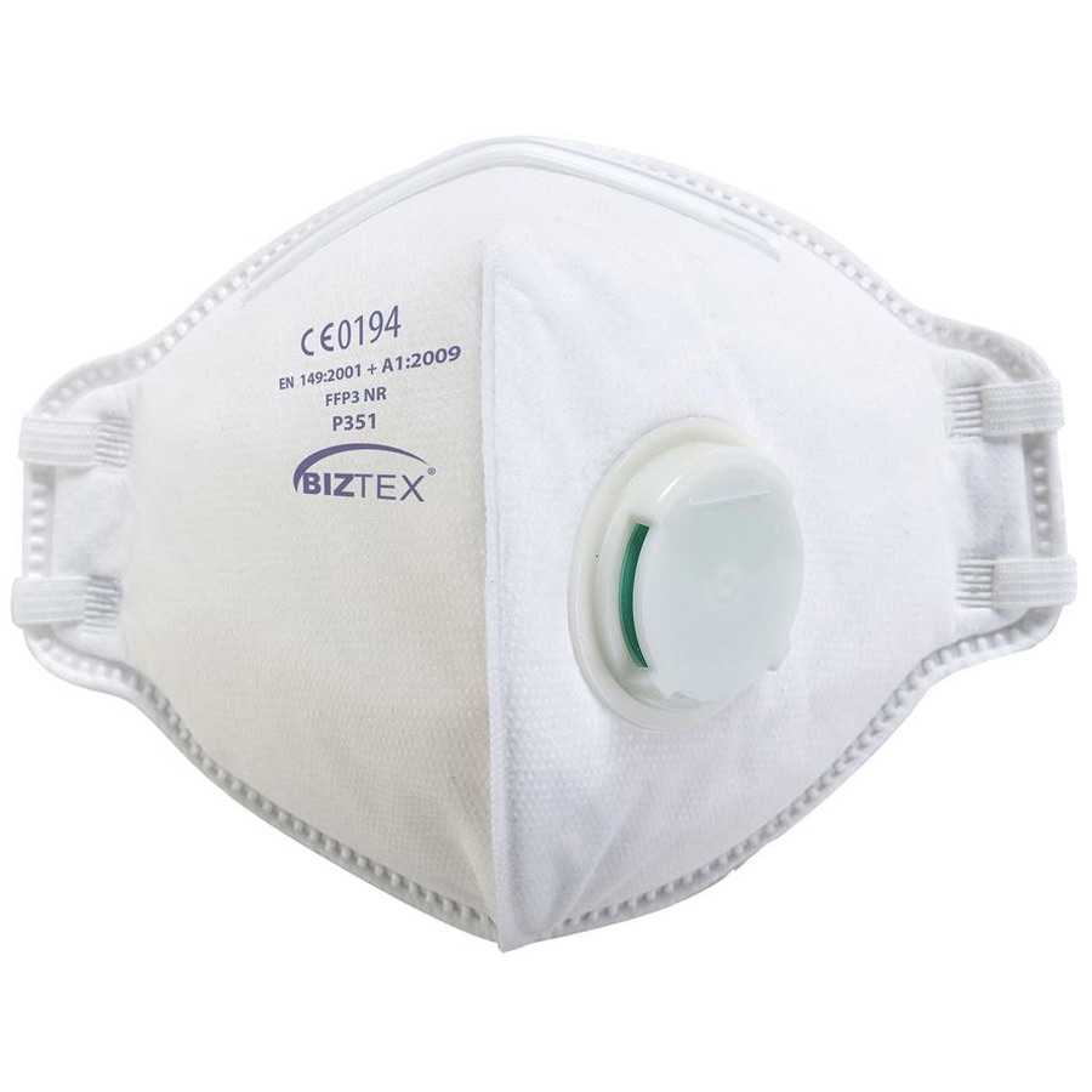 PORTWEST P251 FFP2 valved fold flat respirator 20 masks
