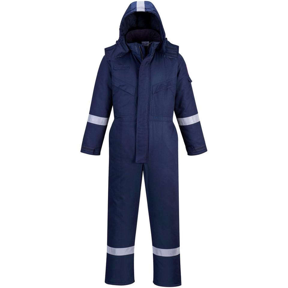 a9130fbe8378 Portwest FR53 Anti Static Winter Coverall 670g