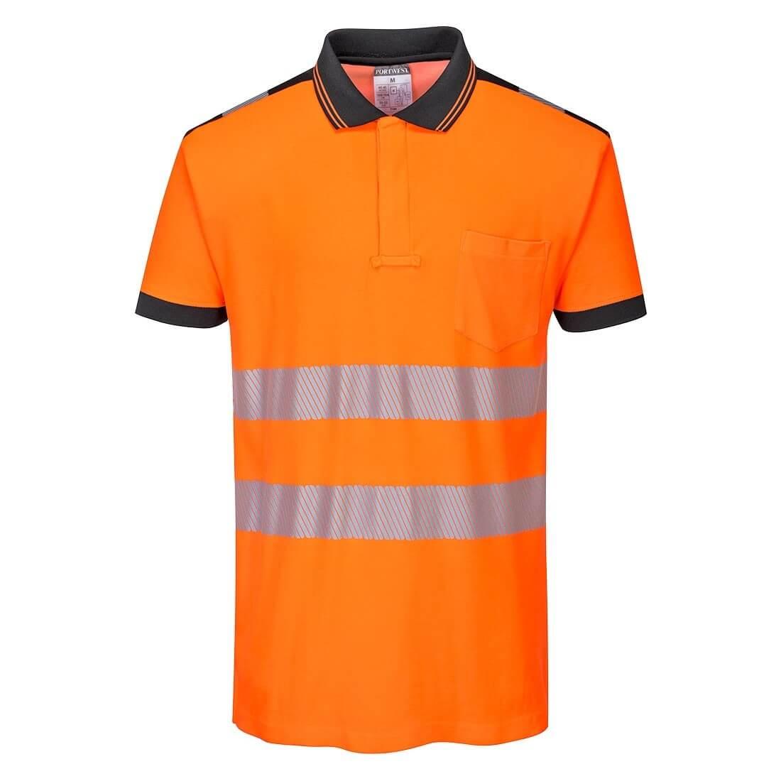yellow orange polo shirt