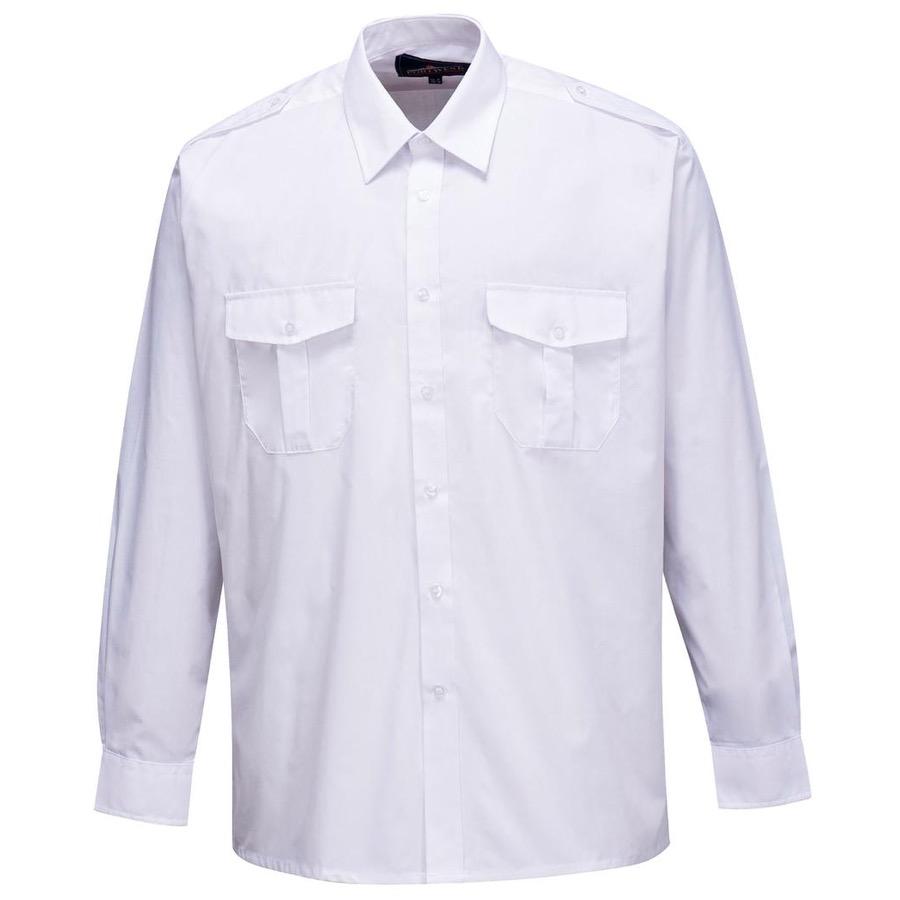 e67e8a18b91 Portwest S102 Mens Pilot Shirt Long Sleeve