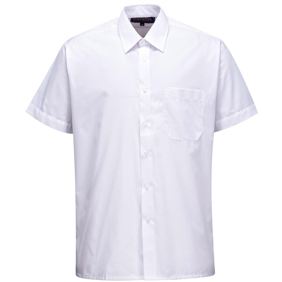 Portwest S104 Mens Classic Shirt Short Sleeve White