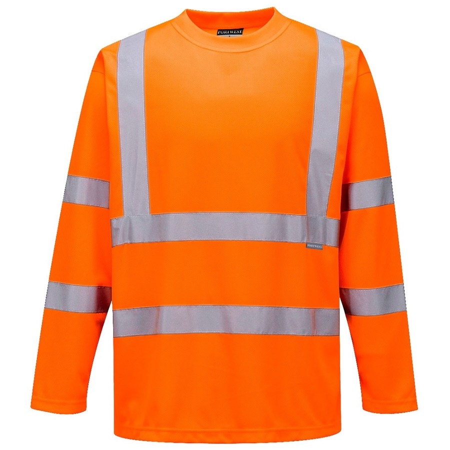 Portwest s178 hi vis long sleeved t shirt bk safetywear for Hi vis t shirt printing