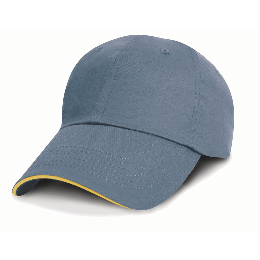 RESULT RC052X Unwashed Fine Line Cotton Cap with Sandwich Peak