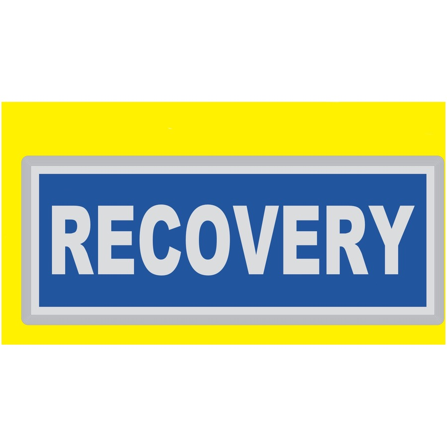 RECOVERY Encapsulated Reflective Badge