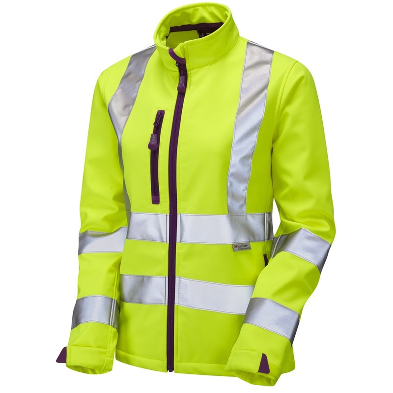 Leo Workwear SJL01-Y Honeywell Hi Vis Ladies Softshell Jacket Yellow
