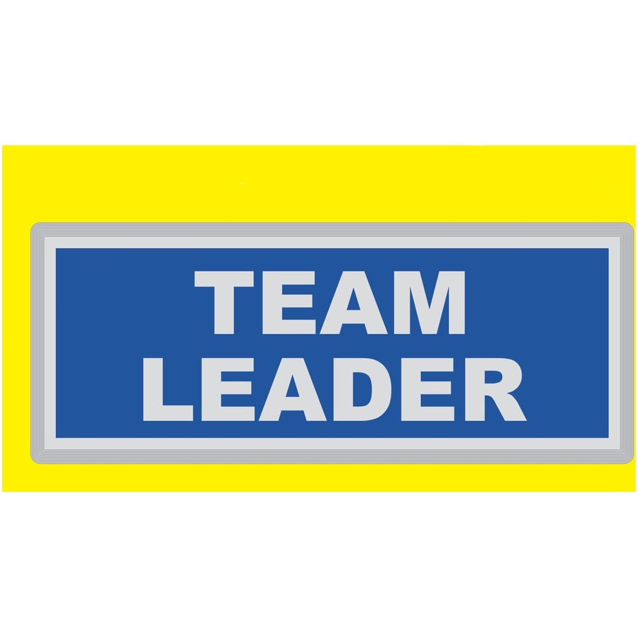 TEAM LEADER Encapsulated Reflective Badge