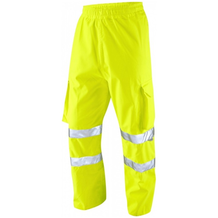 Leo Workwear L02-Y Hi Vis Executive Cargo Overtrouser Yellow