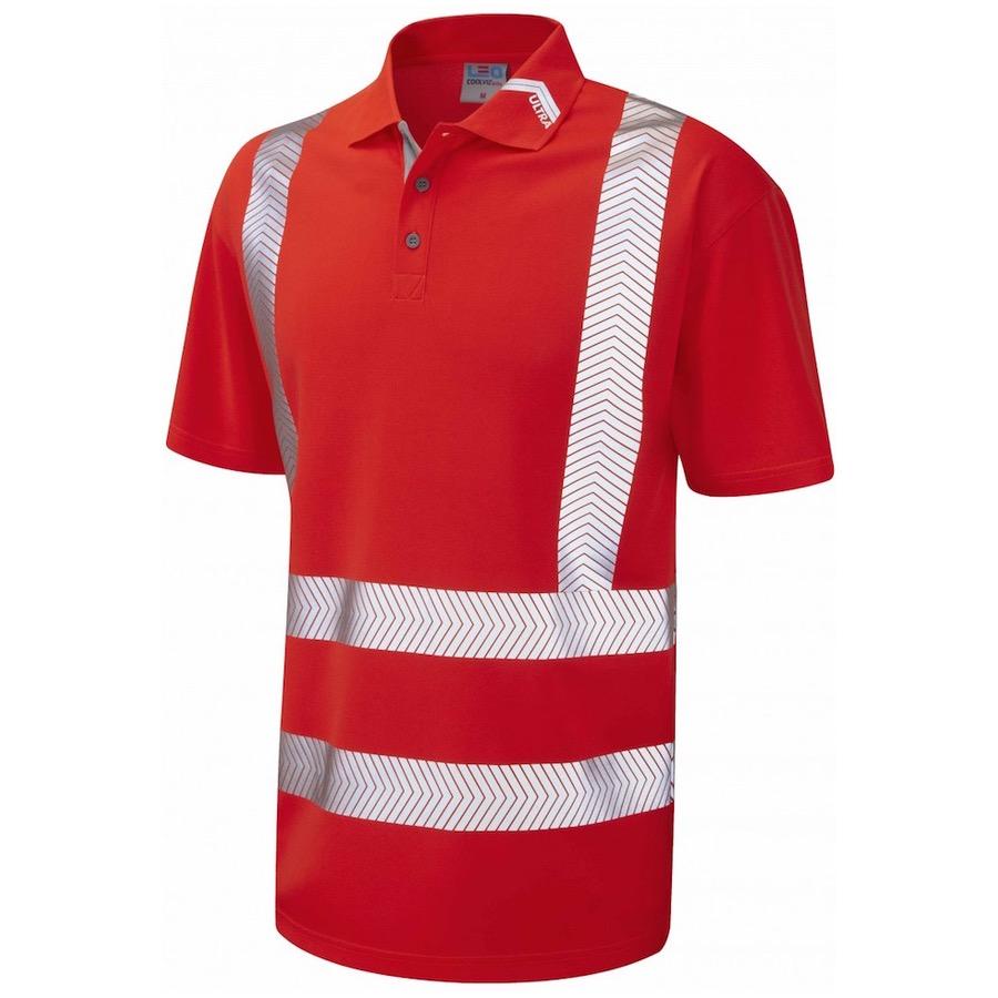 Leo Workwear P09-R BROADSANDS Hi Vis Coolviz Ultra Polo ...