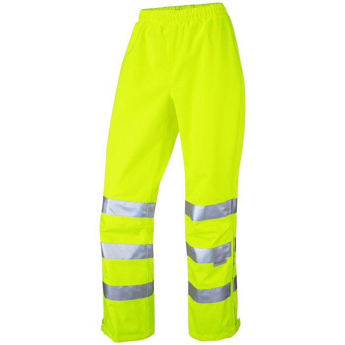 340fd3bfcb907 Leo Workwear LL02-Y Hannaford ISO 20471 Class 2 Breathable Ladies  Overtrouser Yellow