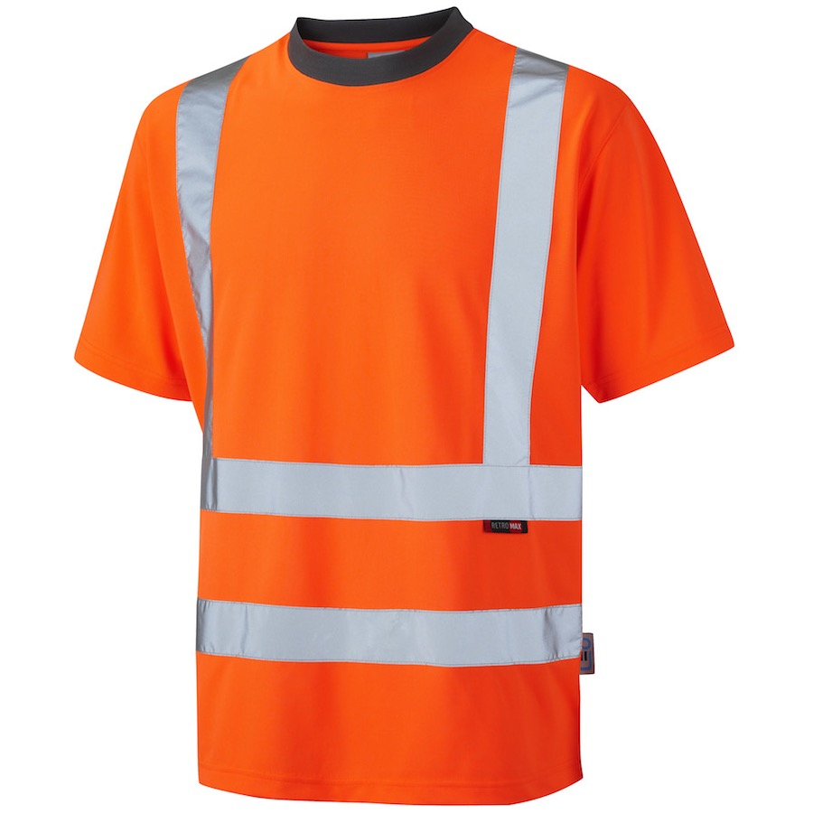Leo workwear t02 o hi vis coolviz t shirt orange bk for Hi vis t shirt printing