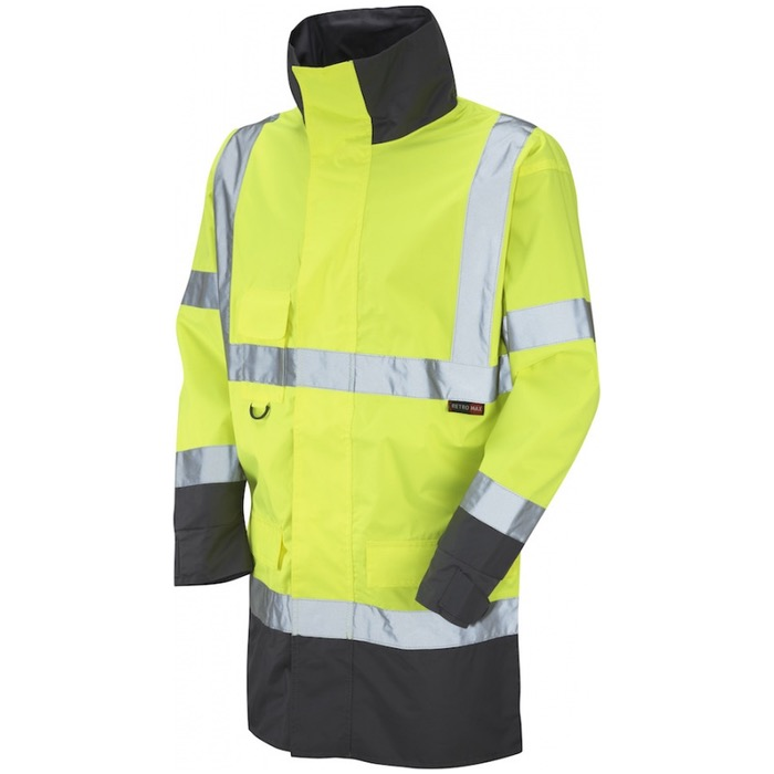 Leo Workwear A06-Y Torridge Hi Vis Lightweight Jacket Yellow / Grey