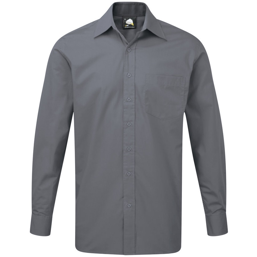 ORN Clothing Manchester 5310 Men's Premium Polycotton Long Sleeve Shirt 130gsm