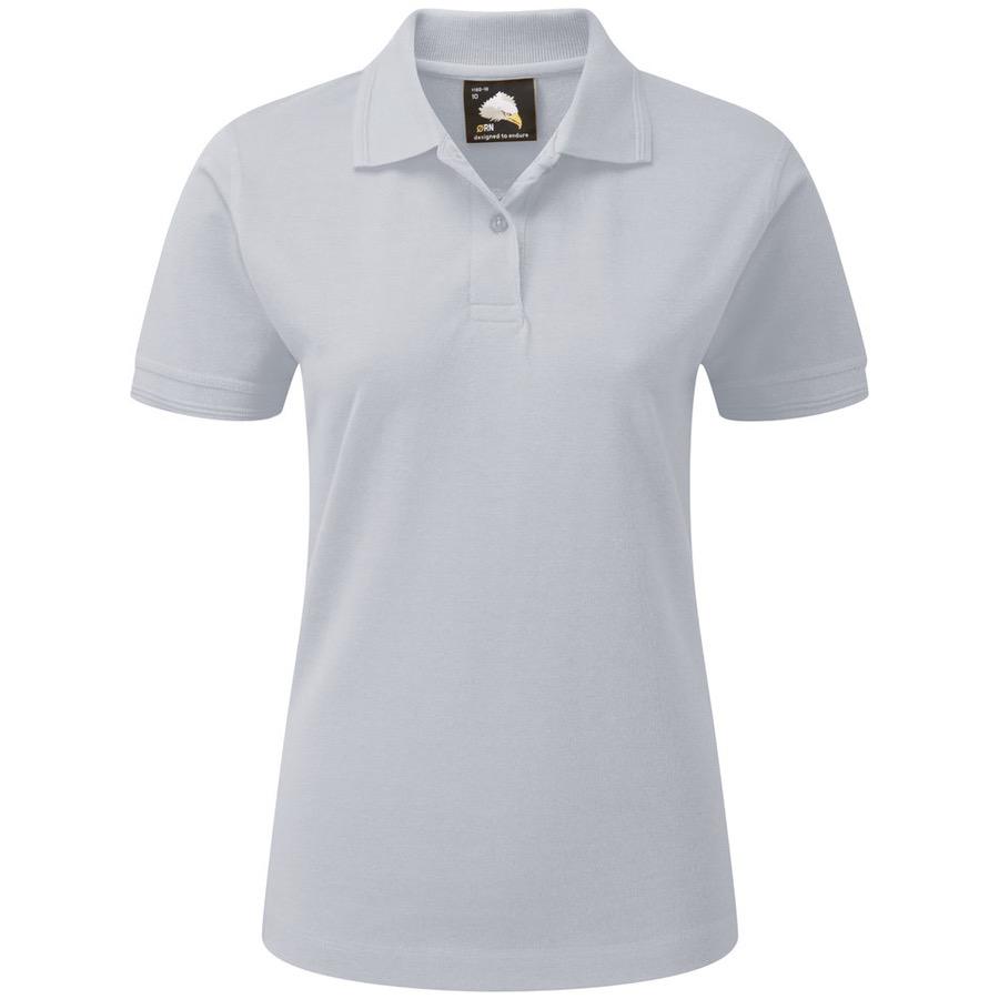 ladies white polo shirt