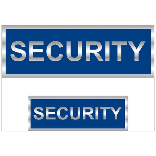 Security Reflective Badges with Blue (Back & Front print)