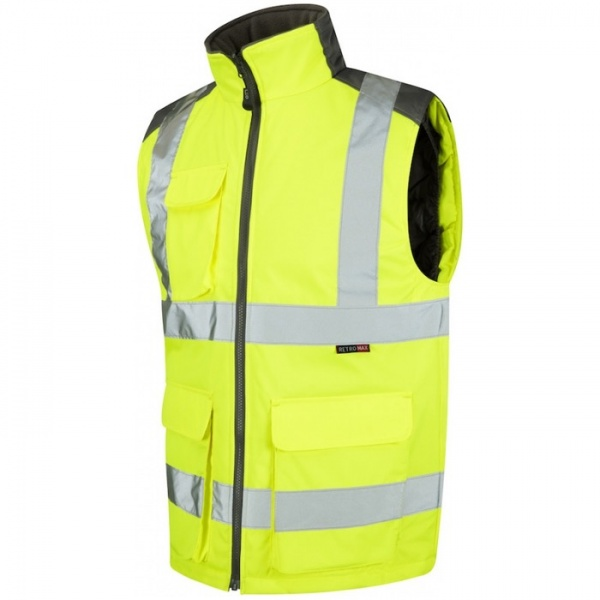 Leo Workwear BW01-Y Torrington Hi Vis Bodywarmer Yellow