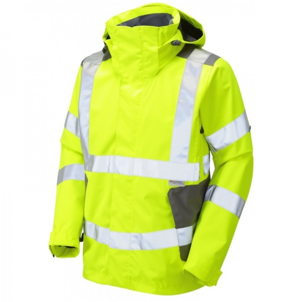 Leo Workwear J04-Y Exmoor Breathable Hi Vis Jacket Yellow