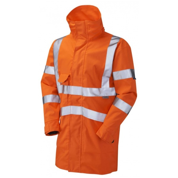 Leo Workwear A04/O Clovelly Executive Hi Vis Jacket Orange