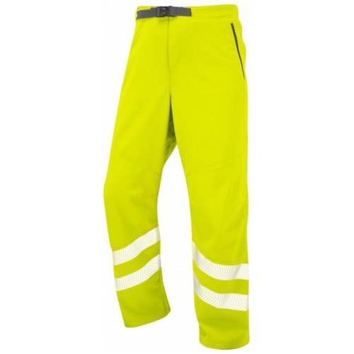 Leo Workwear WT01-Y Landcross ISO 20471 Class 1 Stretch Work Trouser Yellow