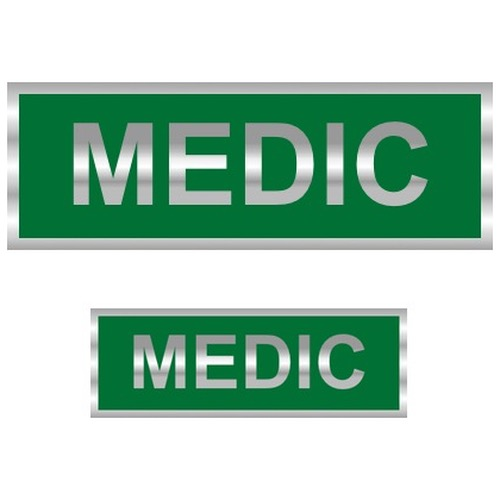 Medic Reflective Badge (Back & Front)