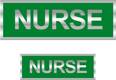 Nurse Reflective Badge (Back & Front)