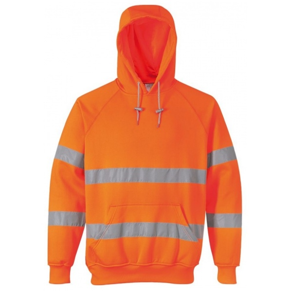 Portwest B304 Hi Vis Hoodie Sweatshirt Orange