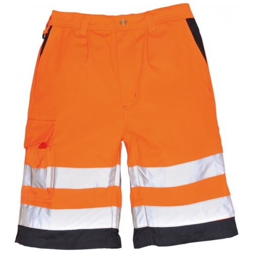 Portwest E043 Hi Vis Poly Cotton Shorts Orange