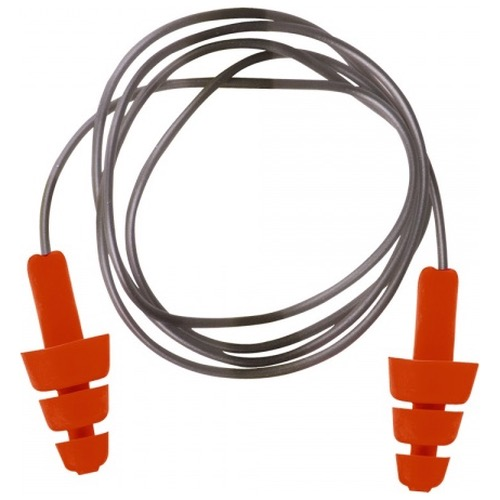 Portwest EP04 Reusable TPE Corded Ear Plug Orange X 50