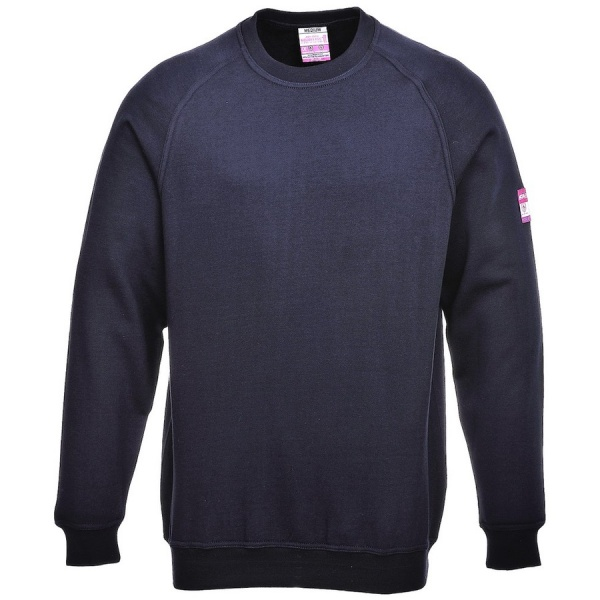 Portwest FR12 Flame Resistant Anti Static Long Sleeve Sweatshirt