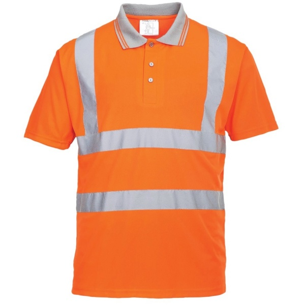 Portwest RT22 Hi Vis Short Sleeved Polo Shirt Orange