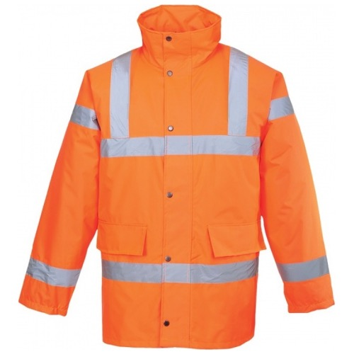 Portwest Railway RT30 Hi Vis Traffic Jacket Orange