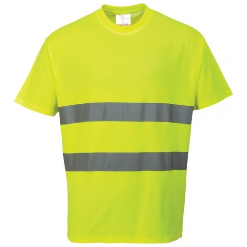Portwest S172 Cotton Comfort Hi Vis T-Shirt Yellow