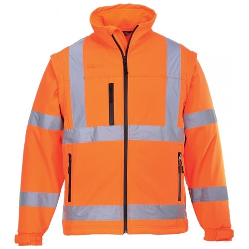 Portwest S424 Hi Vis Classic Softshell Jacket GO/RT Orange