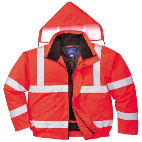 Portwest S463 Hi Vis Bomber Jacket Red