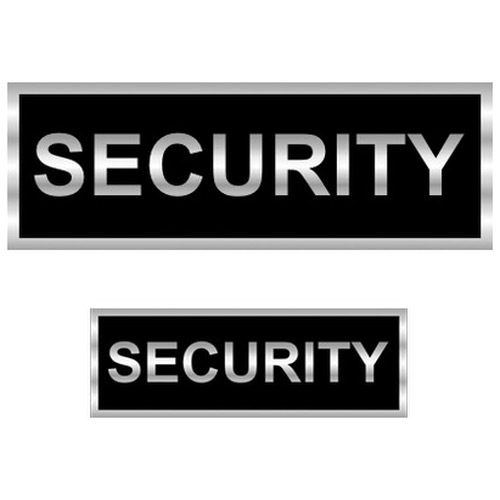 Security Reflective Badges with Black (Back print)