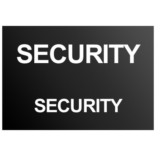 Security Text Badge White (Front & Back)