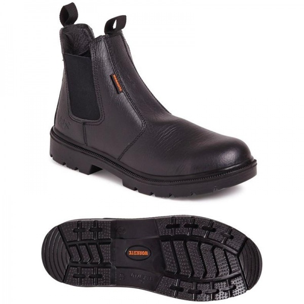 Worksite SS600SM Safety Dealer Boot Black